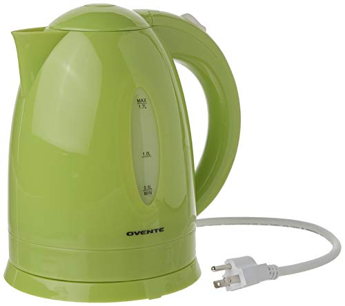 Ovente KP72G 1100 Watts Fast & Concealed Heating Element, BPA-Free, Auto Shutoff Function and Boil Dry Protection, 1.7 Liter, Green