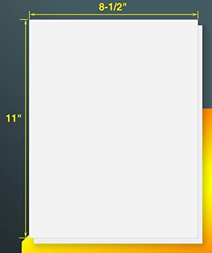 "iLable 8.5"" x 11"" Full Sheet Sticker Paper for Laser & Inkjet Printers[150 Sheets,150 Labels]"