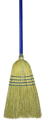 "Weiler 44548 Light Industrial Upright Broom, Corn & Fiber Fill, 57"" Overall Length (Pack of 12)"