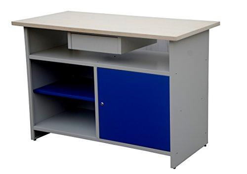 Tavolo Banco da lavoro con TOP in Multistrato e struttura in metallo 120 x 60 x 84