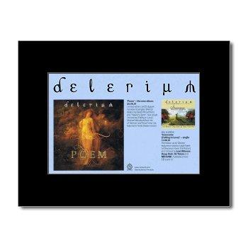 DELERIUM - Poem Mini Poster - 21x13.5cm