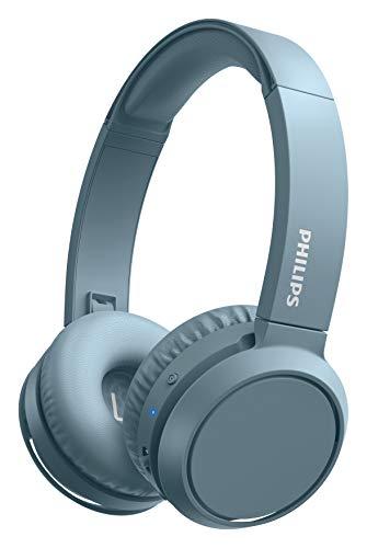 Philips On Ear Kopfhörer H4205BL/00 mit Bass Boost-Taste (Bluetooth, 29 Stunden Wiedergabezeit, Schnellladefunktion, Geräuschisolierung, Zusammenklappbar), Blau Matt - 2020/2021 Modell