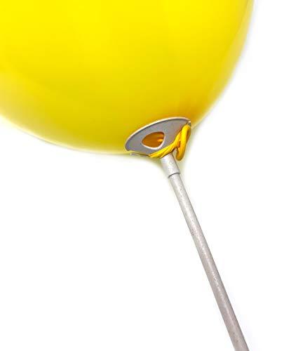 50 x Twist4 Öko Stäbe Halter für Luftballon Ballonstäbe - PLASTIKFREI aus erdölfreiem Basismaterial - Made in Germany