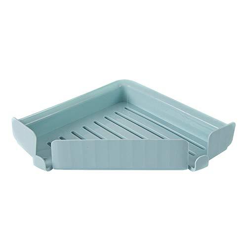 KKJIA Estante De Ducha Para Cuarto De Baño, Organizador De Almacenamiento Sin Taladros, Para Accesorios De Cocina Y Baño (paquete De 2) 32*22*4cm Azul claro