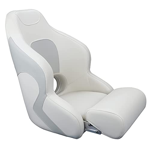 Smartmarine Captains Bucket Seat Boat Seat Premium Sports Flip Up Boat Seat