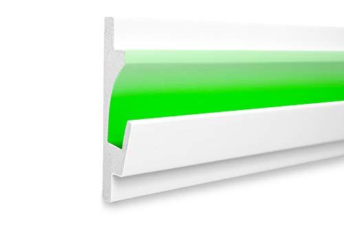 1,15 m | LED Profil | XPS | indirekte Beleuchtung | Trockenbau | lichtundurchlässig | Rigips | Tesori | 125x35mm | KD401