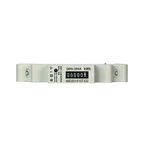 Stromzähler Wechselstromzähler für Hutschiene Hutschienenzähler MID geeicht zugelassen 2019 DRS205A, S0 Interface mit 1000 imp/kWh
