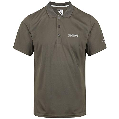 Regatta Herren Maverick IV Quick Drying Button Up Polo Shirt T, Grape Leaf, XXXXXL