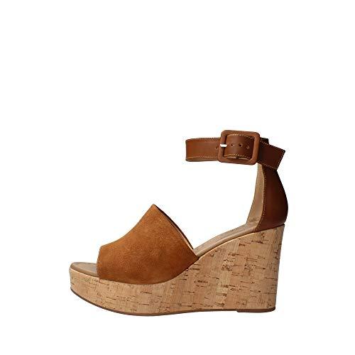 Sandalo da Donna NeroGiardini in Pelle Tabacco E012411D. Scarpa dal Design Raffinato. Collezione Primavera Estate 2020. EU 36
