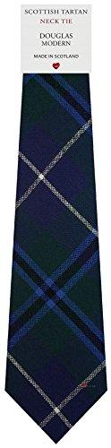 I Luv Ltd Cravate en Laine pour Homme Tissée et Fabriquée en Ecosse à Douglas Modern Tartan