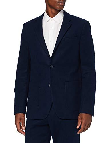 Marca Amazon - find. Americana Casual de Algodón Hombre, azul (marino), 52, Label: 42
