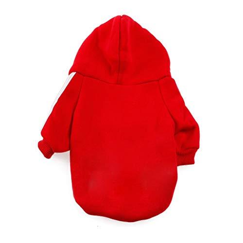 Qiuxiaoaa Hiver Casual Adidog Pet Chien Vêtements Chaud À Capuche Manteau Veste Vêtements pour Chien Épaissir Pet Vêtements Gris Petit