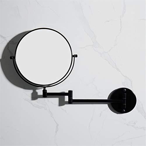 CBXSF 8 Zoll Nordische Toilette Kosmetikspiegel Bad Schwarzer Spiegel An Der Wand Montierter Kosmetikspiegel Faltbare Lupe Doppelseitig