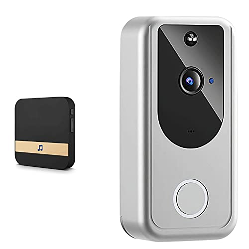 DNAMAZ Portero Video inalámbrico WiFi WiFi Smart Doorbell HD 1080p Cámara Visión Nocturna Seguridad Intercomunicador Inicio Video Door Bell automatico (Color : A 2 in 1)