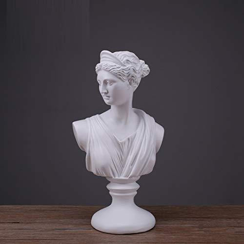 JDSHSO Diana Apollo Bust Sculptural Gift Classical Greek Bust Statue Greek Mythology Home Desktop Decor