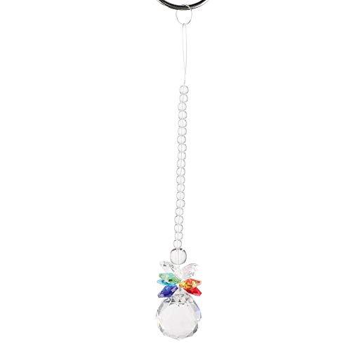 Raguso La lámpara de Cristal Multicolor Colgante de Cristal Parte la Bola de Cristal facetada para el Hotel casero(L 40mm)