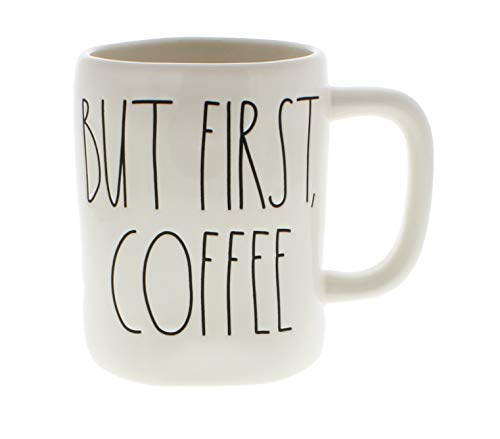 Rae Dunn by Magenta BUT FIRST, COFFEE Ceramic LL Coffee Mug