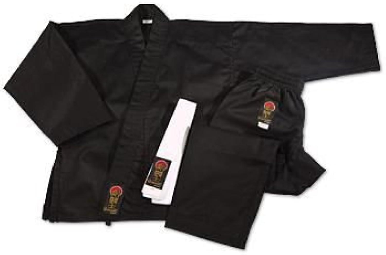 ProForce Gladiator 7.5 oz. Karate Uniform - Black Size 00 1 packs