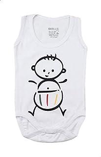 Skills Round-Neck Baby-Print Sleeveless Bodysuit for Boys