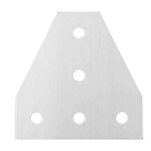 Changor Thin 3D-Drucker-Halterung, einfache Installation Metall 6mm 60 * 60mm für Misumi-Serie (Silber)