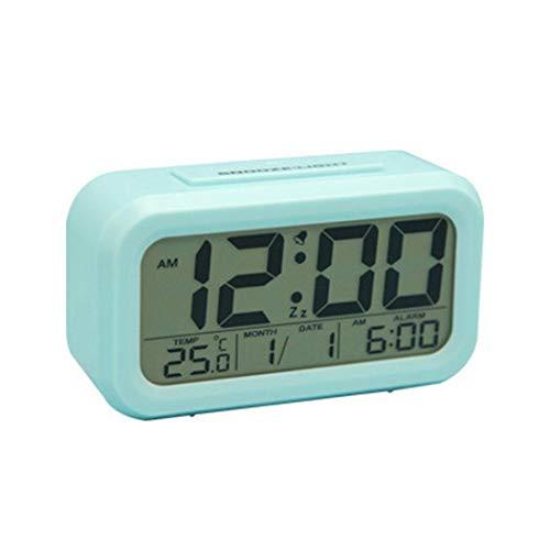 fnemo Digitaluhr,Großes LCD-Display Wecker mit Snooze-Funktion Leuchtende Desktop-Uhren Elektronische Wecker