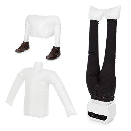 KLARSTEIN ShirtButler Pro - Sistema 2in1 Automatico di Asciugatura e Stiratura, Set in 3 Pezzi: Attacco per Pantaloni/Camicie/Scarpe, 1200 W, Easy-Dry, Multi Size: S-XL, Bianco