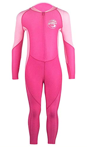 Little Girls Swimming Bodysuit Wakeboarding Sun Protective UPF 50 Quick Dry Lightweight Full Body Rashguard 2-3T Pink