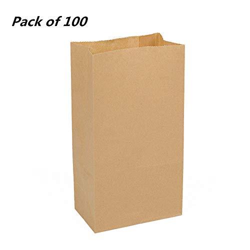 Bolsa de papel kraft marrón, bolsa de regalo de dulces de pan fresco, bolsa de papel de embalaje para pan, pan, bolsitas para llevar 24 X 13 X 8 CM No.2