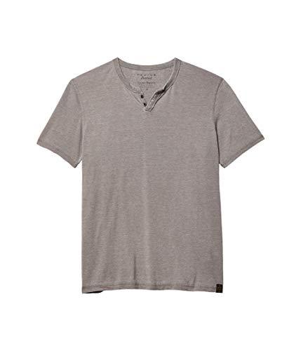 Lucky Brand Men's Venice Burnout Notch Neck Tee Shirt, Gargoyle, X-Large
