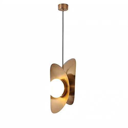 Am -Light - Colgante de globo con acabado dorado con acabado dorado (AMDJC3604)