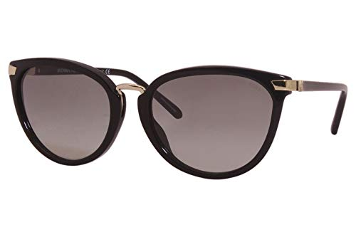Brand: Michael Kors Model: Claremont; MK2103U Style: Fashion Cat Eye Frame/Temple Color: Black/Gold - 300511 Lens Color: Grey Gradient Size: Lens-56 Bridge-18 B-Vertical Height-45.3 ED-Effective Diameter-61.3 Temple-140mm Gender: Women's Frame Materi...