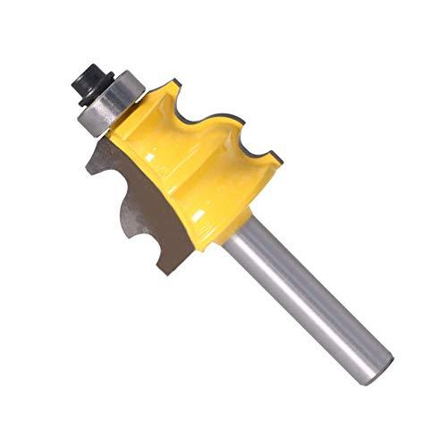 KEKEYANG Herramientas 8mm cortador de madera mango del cuchillo Bares curva de arco de curva cuchillo Cuchilla arqueada en forma de cordón de máquina herramienta de fresado baquelita Cabeza Gong Virut