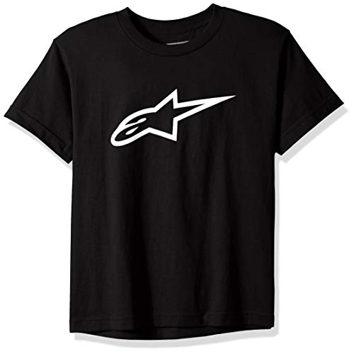 Alpinestars Kid's Ageless tee Camiseta, Blanco Negro, L Unisex niños