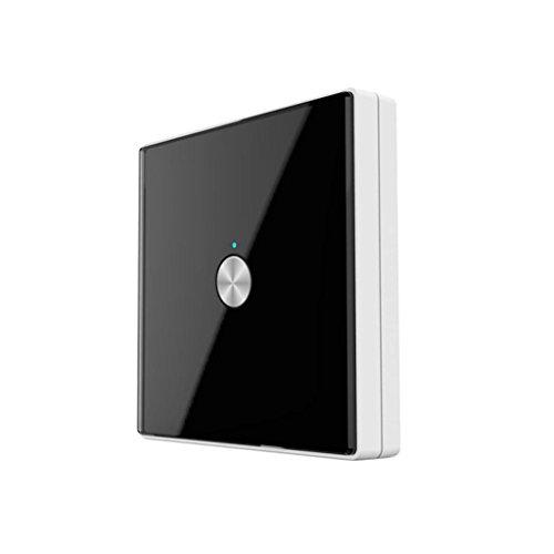 Homyl Lichtsensorschalter Akustikschalter Drahtlose Wandschalter (1 Knof) - schwarz