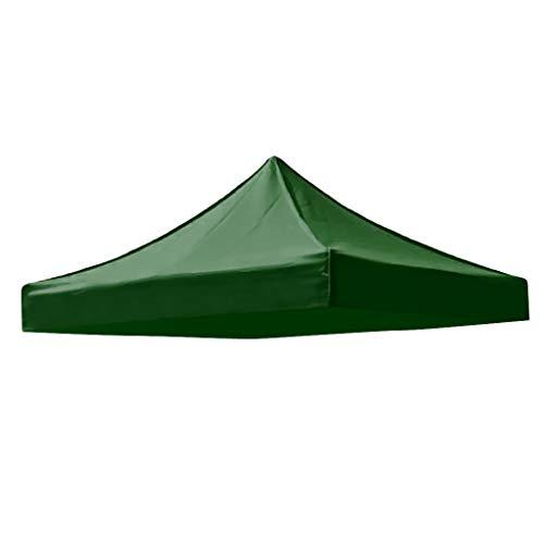 HomeDecTime Toile de Toit de Rechange pour Pavillon Tonnelle Tente - Vert foncé, 3x3m