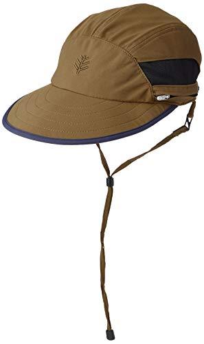 Coolibar UPF 50+ Men's Kaden Crushable Ventilated Hat - Sun Protective (Large/X-Large- Khaki)