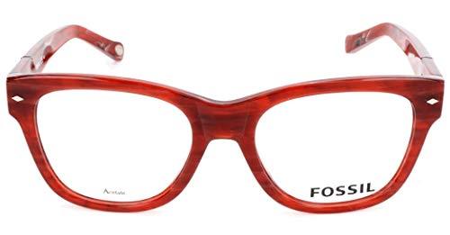 Fossil Brillengestelle FOS 6075 Rechteckig Brillengestelle 51, Rot