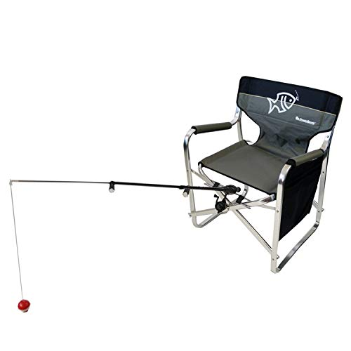 Oasis Director Fishing Chair with Rod Holder - Premium Folding Aluminum Chair