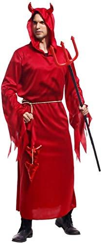 EVRYLON Kostüm dämon Karneval Kleid roter Teufel Erwachsene einheitsgröße