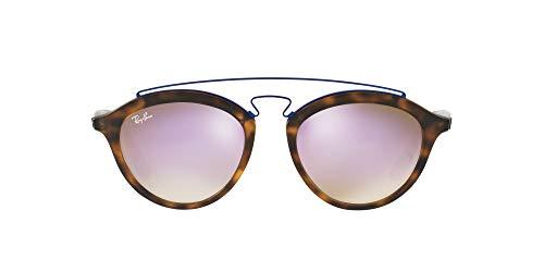 Ray-Ban Junior Unisex-Erwachsene Gatsby II Brillengestelle, Braun (Matte Havana/Mirrorgradientlillac), 50