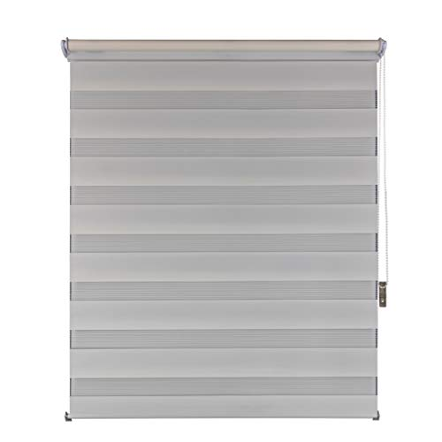 Suntesso Double Roller Blind for Windows and Doors Beige 70 x 200 No Drilling Required Roller Blind Klemmfix