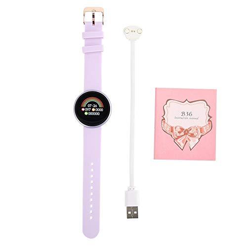 Fitnessarmband, ronde smartwatch, hartslag- en slaap-fysiologische tijdweergave, waterdichte ronde smartwatch 1