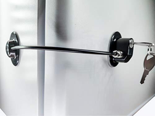 REZIPO - Cerradura para puerta de refrigerador con 2 llaves, cerradura para cajón de archivo, cerradura para puerta de congelador y cerradura para armario de seguridad infantil, color