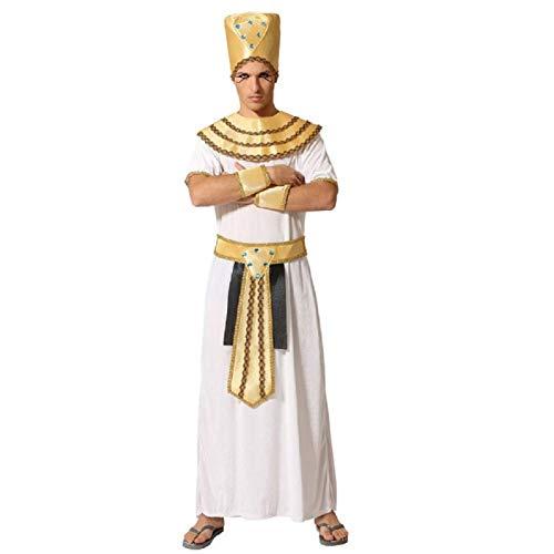 ATOSA disfraz egipcio hombre adulto faraón blanco XL