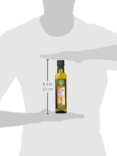 Manako BIO Leinöl human 2×250 ml ABSOLUT FRISCH ab Ölmühle Glasflasche, 1er Pack (1 x 500 ml) – Bio - 3