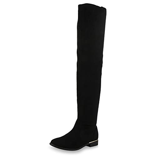 SCARPE VITA Women Boots Overknees Lightly Lined 173665 Black UK 5 EU 38