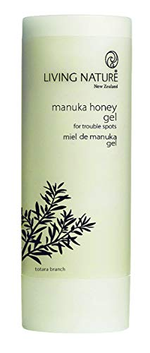 LIVING NATURE MANUKA HONEY GEL I 50 ml (1.7 fl oz) I Nature's Powerful Healer I For Blemishes, Acne, Spots, Scratches, Itching, Stings, After Waxing l Certified Natural l Cruelty Free