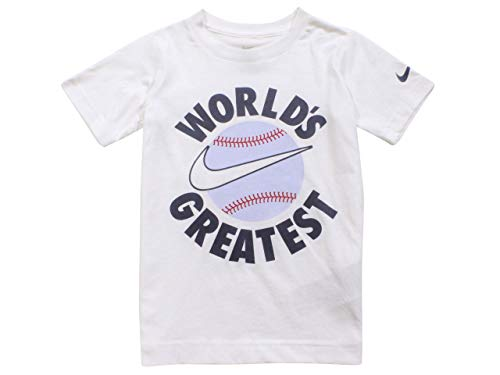 Nike World's Greatest T-Shirt Toddler Boy's White Short Sleeve Crew Neck Sz: 2T
