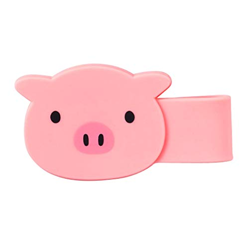 PuniLabo Pig Soft Silicone Flexible Magnetic Clip with Multiple Uses