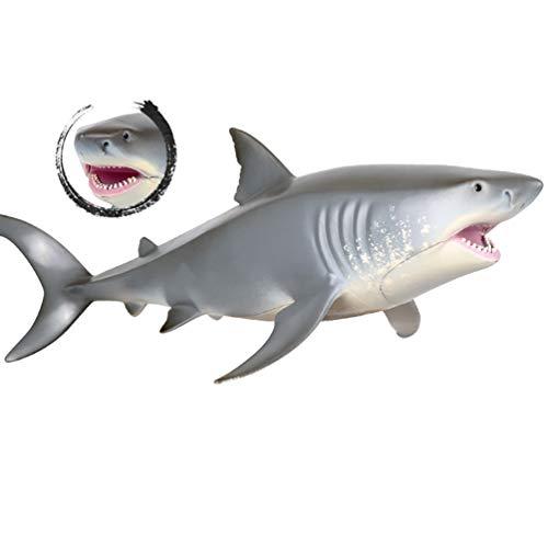 ViewHuge Dekofigur, weißer Hai aus PVC, realistische Mini-Meerestiere für Jungen und Mädchen